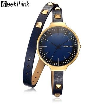 font b geekthink b font retro style rivet leather bracelet strap quartz watch women lady.jpg 350x350