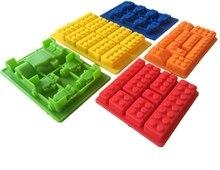 5 STÜCKE Bausteine Eiswürfelbehälter 10 Legos Silikon Eisform Roboter Schokoladenform Gelee Pan Silikon Candy Mold Logo liebhaber