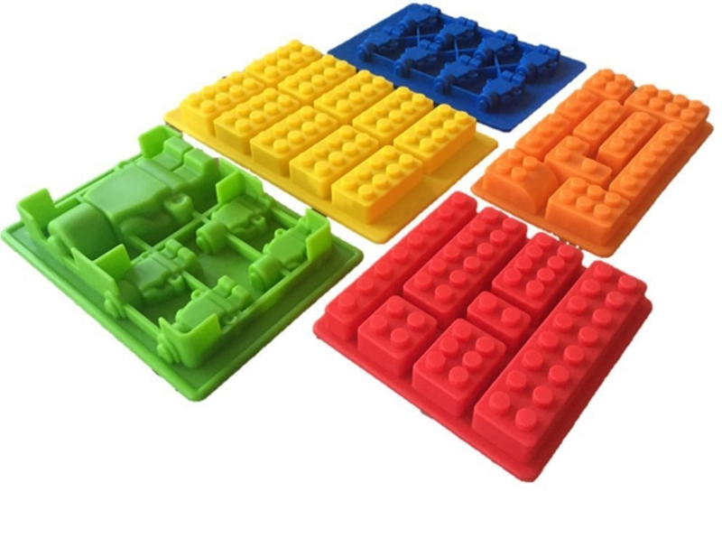 5PCS Building Bricks Ice Trays 10 Silicone Ice Mold Robot Chocolate Mold Jelly Pan Silicone Candy Mold Logo Lovers