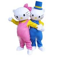 New Hello Kitty Mascot Costume Adult Size cat Mascot Costume cosplay mascot costume Free shipping