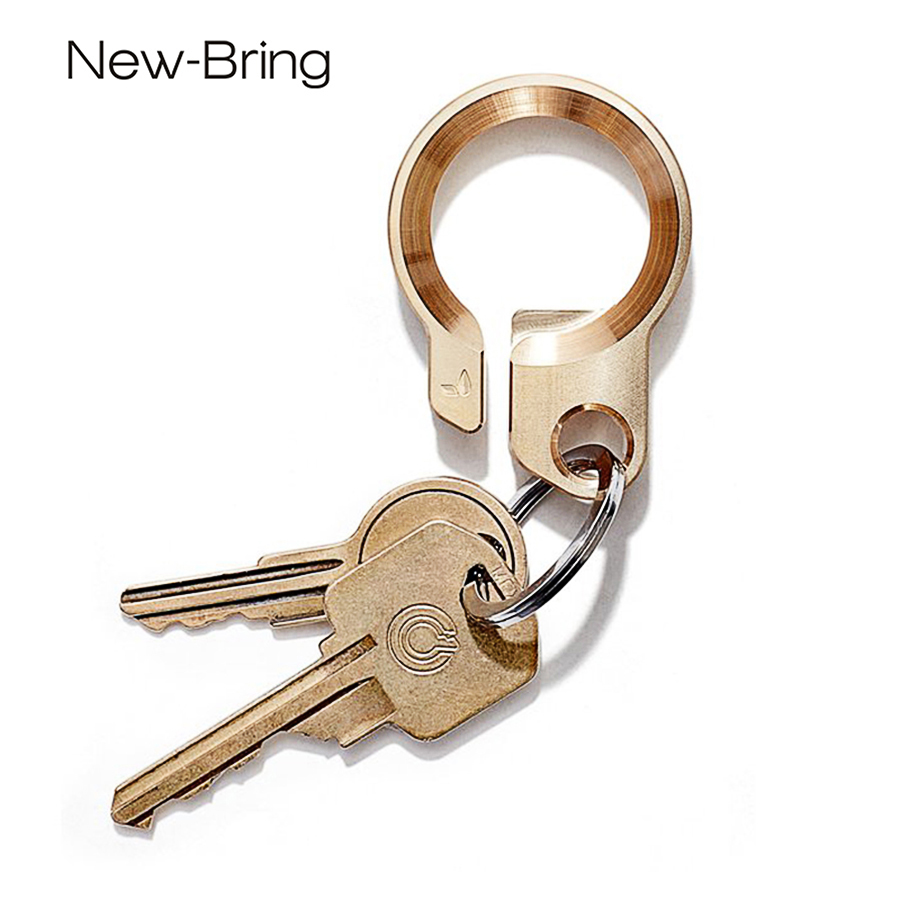 NewBring Copper Key holder with Bottle Opener smart key holder collector housekeeper DIY EDC Pocket key organizer
