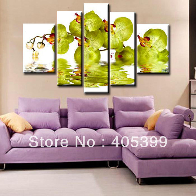 New Arrival!!  Handmade Abstract Oil Painting On Canvas Oversized Flower  Set of 5 ,Home Decoration JYJHS025