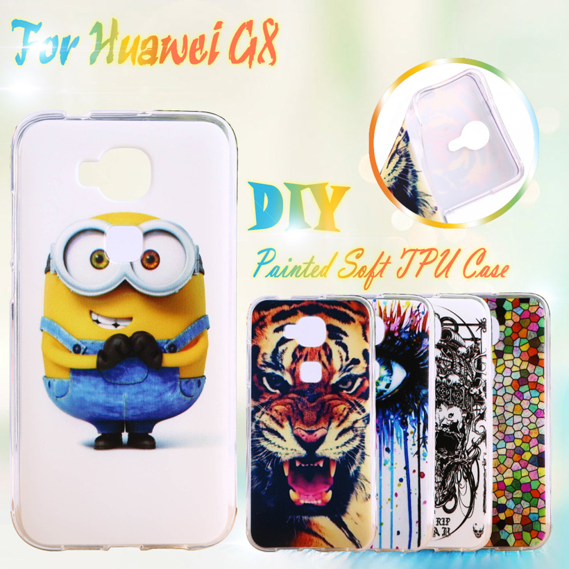 AKABEILA Painted TPU Silicone <font><b>Phone</b></font> <font><b>Cases</b></font> For Huawei Ascend G8 G7 Plus D199 <font><b>GX8</b></font> Maimang 4 RIO-AL00 <font><b>Cases</b></font> Covers Houisng Skin Bag