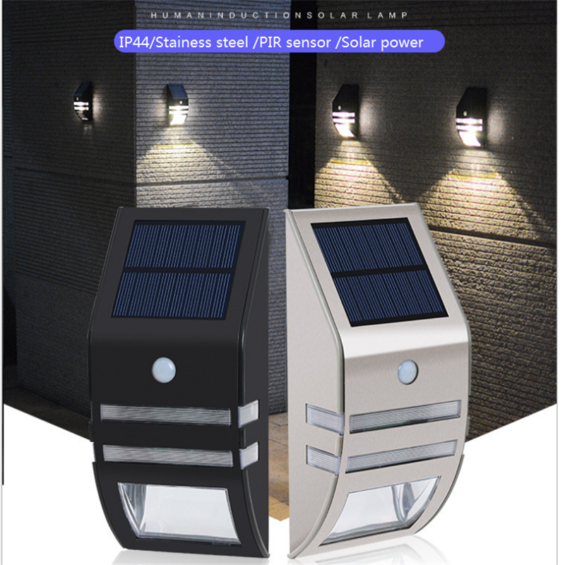 Solar IP44 outdoor led wall lamp,stainless steel spot light wire ...