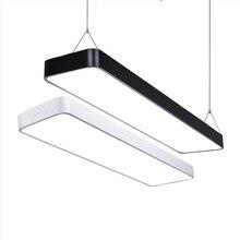 Современный светодиодный потолочный светильник, приглушаемая поверхность, монтажная панель, Прямоугольный светильник, светильник для спальни, гостиной, офиса, светильник 110 В 220 В