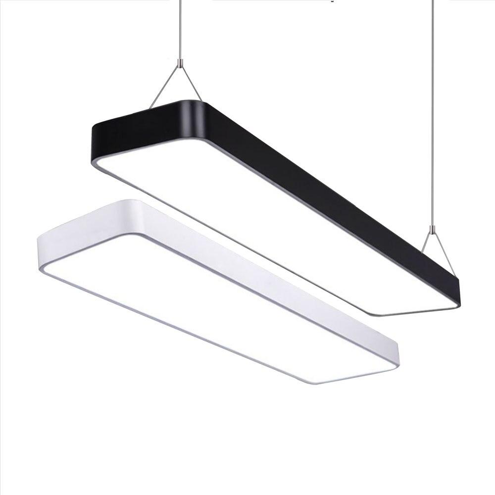 LED nowoczesne oświetlenie sufitowe lampa możliwość przyciemniania montaż powierzchniowy Panel prostokąt oprawa oświetleniowa sypialnia salon oświetlenie do biura 110V 220V