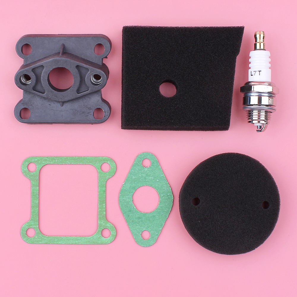 Air Filter Foam Carburetor Insulator Intake Manifold Spark Plug Gasket Kit For Robin NB411 2 Stroke Brush Cutter Trimmer EngineAir Filter Foam Carburetor Insulator Intake Manifold Spark Plug Gasket Kit For Robin NB411 2 Stroke Brush Cutter Trimmer Engine