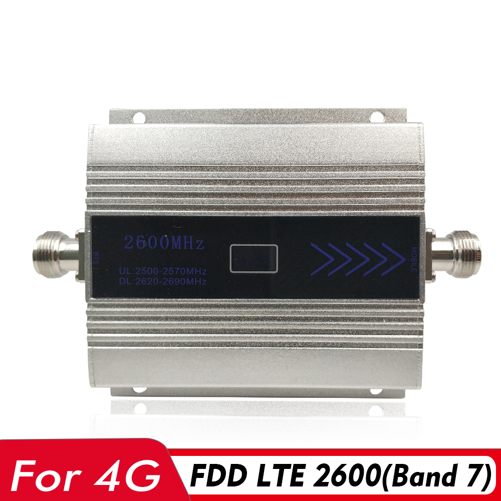 4G Signal Booster FDD LTE 2600mhz (Band 7) Mobile Signal Repeater Fdd 2600 4G Network Internet Data Cellular Cellphone Amplifier