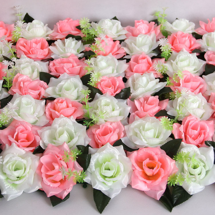 50st / lot Bright Cloth Rose Flower Head Konstgjorda Lliy Flowers - Semester och fester