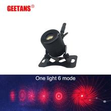 GEETANS Anti Collision Rear-end Car Laser Tail Fog Light Auto Brake Parking Lamp Rearing Warning Project one light 6 mode AJ