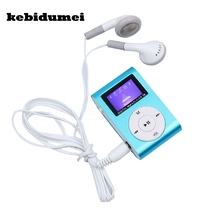 Clip Mp3-Player Mini Earphone Lcd-Screen Micro Portable Kebidumei with Tf/Sd-Slot Usb-Cable