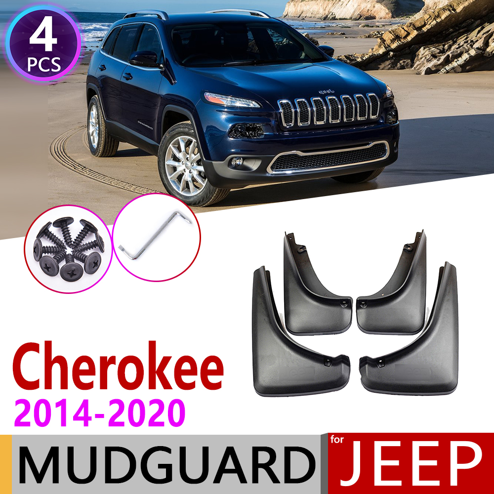 Car Mudflap for Jeep Cherokee KL 2014 2020 Fender Mud Guard Flap Splash Flaps Mudguards Accessories 2015 2016 2017 2018 2019 5th