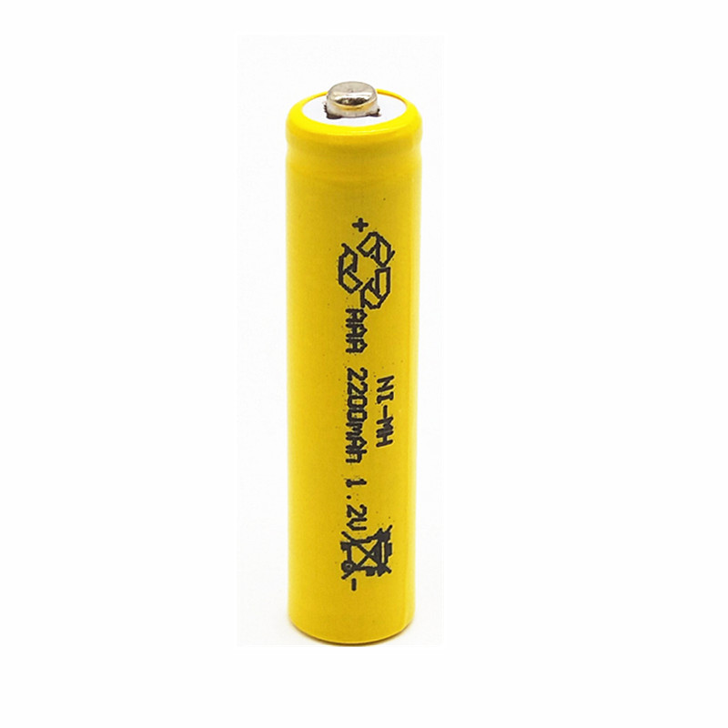 4 PCS X AAA YELLOW 2200mAh OOLAPR 1.2 V Rechargeable Battery  NI-MH 1.2V Rechargeable 3A Battery Free Shipping