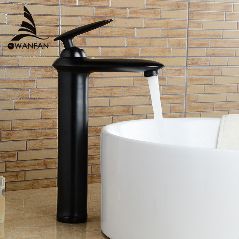 Basin Faucets Brass Modern Bathroom Sink Faucet Single Lever Bathroom Basin Faucet Hot and Cold Mixer Water Tap Black LH-17067 bathroom basin faucets modern chrome finished bathroom faucet single hole cold and hot water tap basin faucet mixer taps