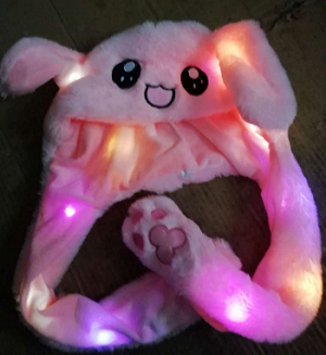 Движущаяся шапка с заячьими ушами бархатные игрушки шапка кролика движется Ушная шапка игрушка 21 цвет Автоспуск реквизит подарки для детей интересный головной убор - Цвет: Light