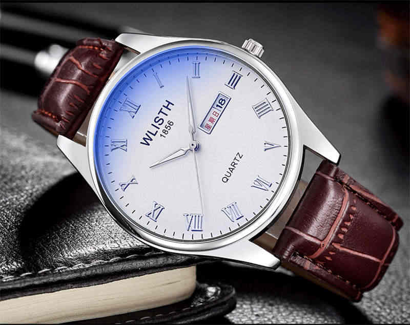 Новинка 2019, модные мужские наручные часы WLISTH, кварцевые часы из нержавеющей стали, мужские водонепроницаемые часы с английским календарем