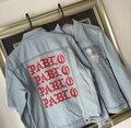 YEEZY Мужчины MA-1 Куртка Джинсы Чувствую, Пабло Сезон 3 Kanye западной Куртки Сломанной Отверстие Жан Пальто Kanye West Хип-Хоп Bomber куртка