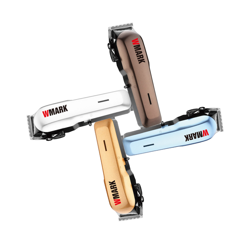 WMARK Professional Wired Hair Trimmer 6000-6500rm DC Motor Sharp And Light Free Blade Set With 6 Size Guide Comb NG-555