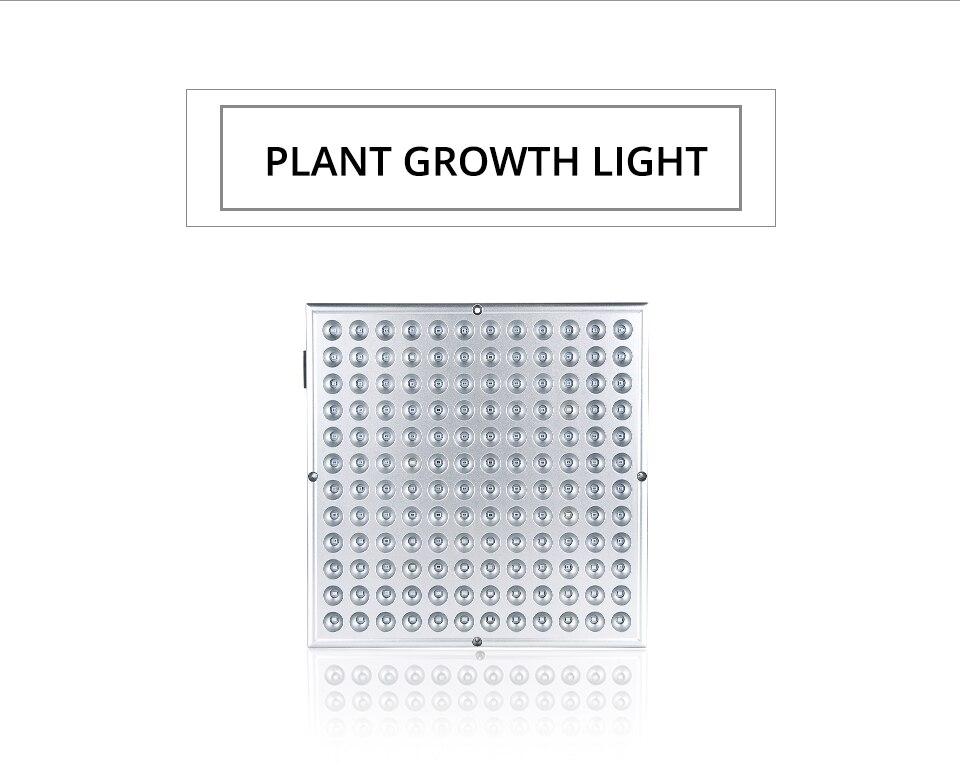 LED Plant Grow Light Full Spectrum 45W AC 85-265V Phyto Lamp for Plants Flower Seedlings 144LEDs Indoor Grow Light Hanger Kit (2)