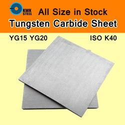 Вольфрамовый цементный карбидный лист вольфрам-когальт сталь WC Co сплавная плата YG15 YG20 ISO K40 DIY прессформа CNC металлическая технологическая п...
