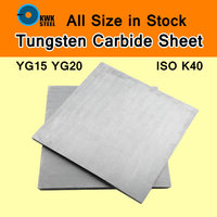 Tungsten Cemente Carbide Sheet Tungsten Cohalt Steel WC Co Alloy Board YG15 YG20 ISO K40 DIY
