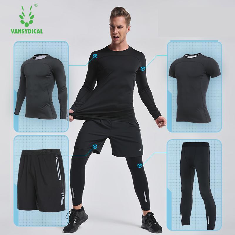 2018 de course ensemble hommes de sport costume compression basketball courir sous-vêtements vêtements hommes gym fitness sport de formation de football costume