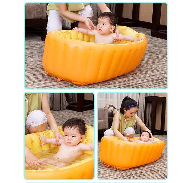 Inflatable pool anti-slippery baby bath tub children light swimming pool summer baby bathtub foldable shower basin for 0-3 years