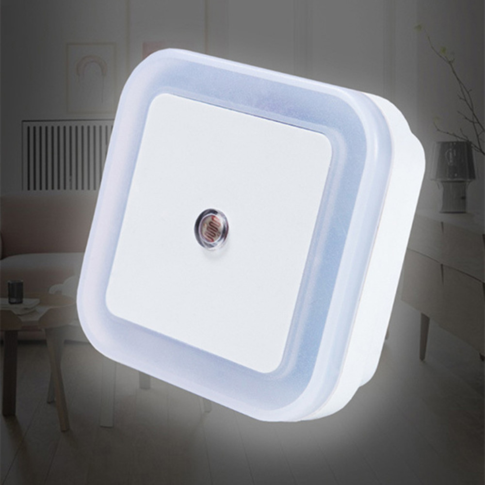 Light Sensor Control LED Night Light Energy Saving Night Lamp Corridor Stairs Toilet Baby Room Bedroom Lamp For Children Elderly