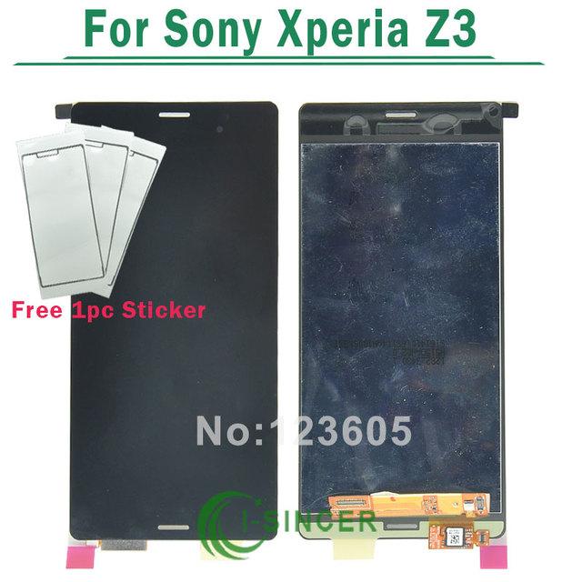 1/pcs tela de lcd para sony xperia z3 l55t l55u lcd Touch Screen Digitador Assembléia D6603 D6653 D6616 D6633 Preto Livre grátis