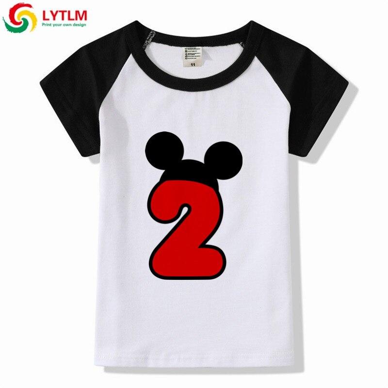 LYTLM 2 Birthday Shirt Boy Toddler Summer Girls Short Sleeve Tee Baby Clothing Girl Boys Tops Shirts