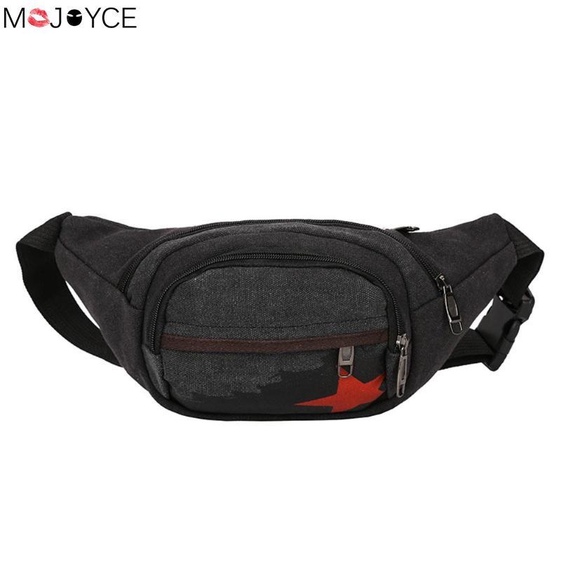 Waist Pack Men Women Canvas Shoulder Crossbody Pack Chest Bag Belt Handbag Mobile Phone Bag Man Women Bolsas mochila Waist Bags недорого