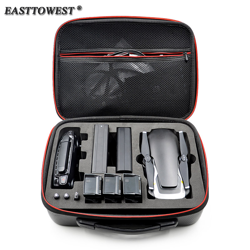 Easttowest EVA PU Waterproof DJI Mavic Air Hard Case Drone Box Portable Storage Carry Bag For DJI Mavic Air