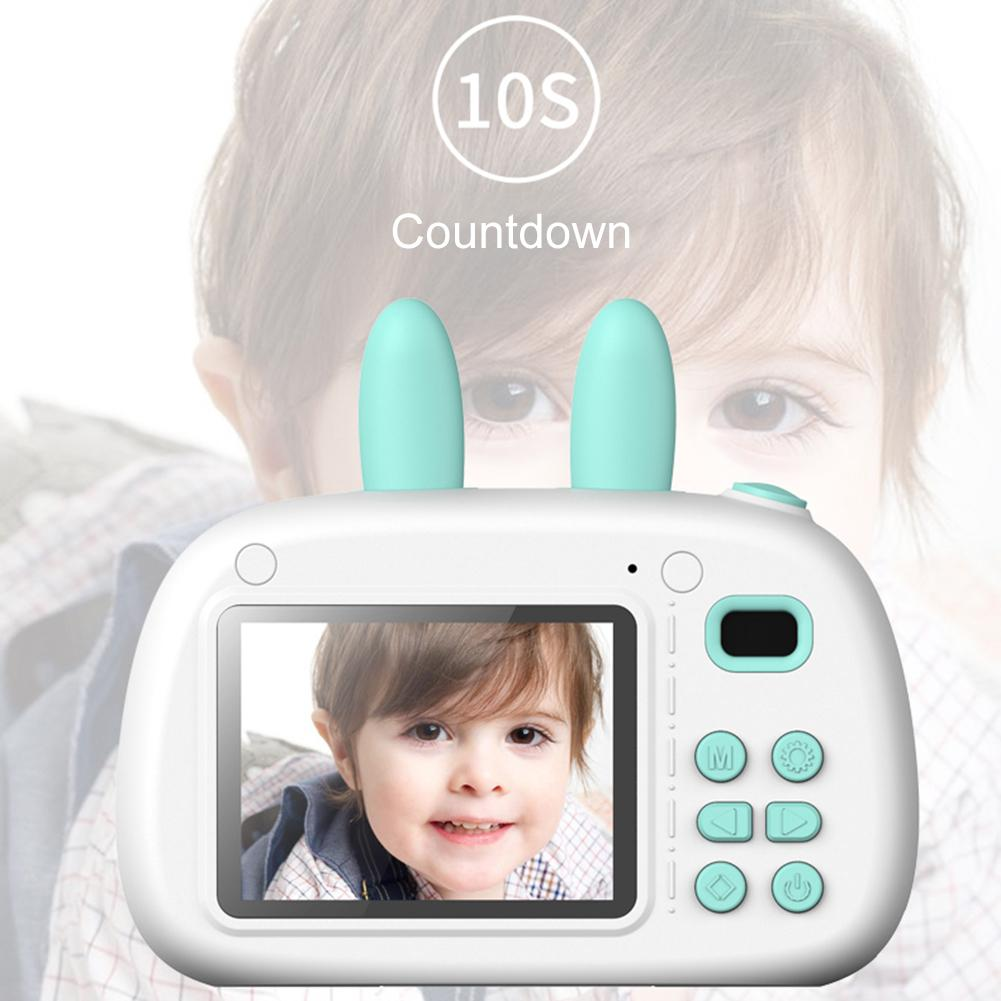 Children's Camera Digital Photography Small SLR Camera Fun Cartoon Photo Sticker Camera 2.4 Inch With Double Lens For Kids