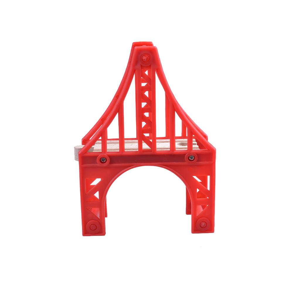 Kids wooden toys Red Europe style Tower Bridge Tomas and Friends railway train Track toys for child