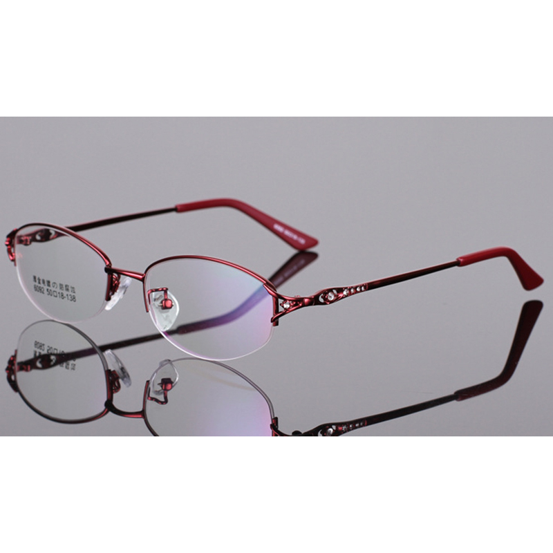 Stgrt 2019 New Style Temperament Half Rim Women Prescription Glasses Photochromic Lens For Moypia Cylinder With Diopter Lens