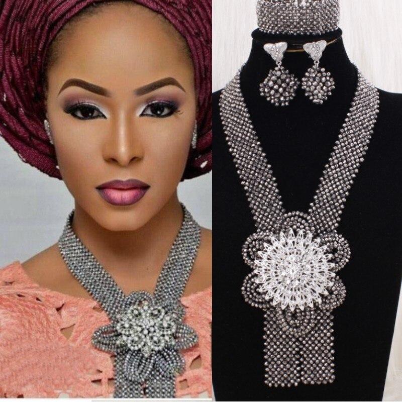 HTB1hzRjPbvpK1RjSZPiq6zmwXXa4 4UJewelry Peach Nigerian Wedding Set African Beads Big Design Bold Costume Choker Set Free Shipping Bridal Jewelry Set 2019 New
