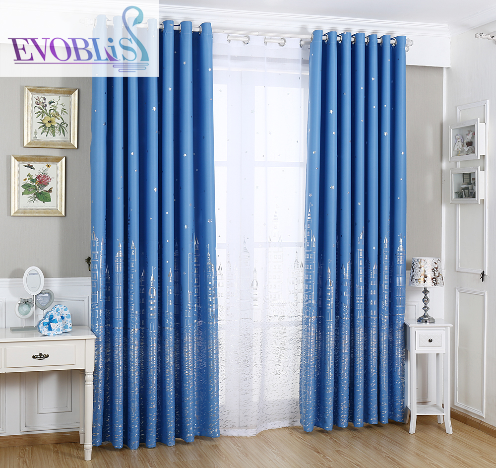 Silver Star Castle blackout curtains for living room curtains for - Home Textile
