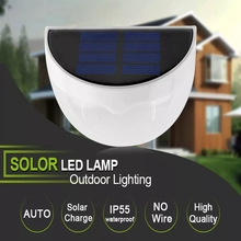 LED Solar Lamp Power Garden Waterproof IP55 Light Outdoor Wall Fence lamp For