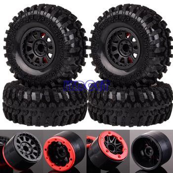 "4pcs 2.2"" Wheel Rim Beadlock Climbing Rock Crawler Tires 6006-3021 For RC 1/10 Model HSP Redcat Axial RC Truck Buggy"