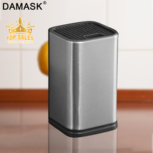 Damask Multifunctional Knife Block Holder Stainless Steel Kitchen Stand Large Capacity Sooktops Shelf