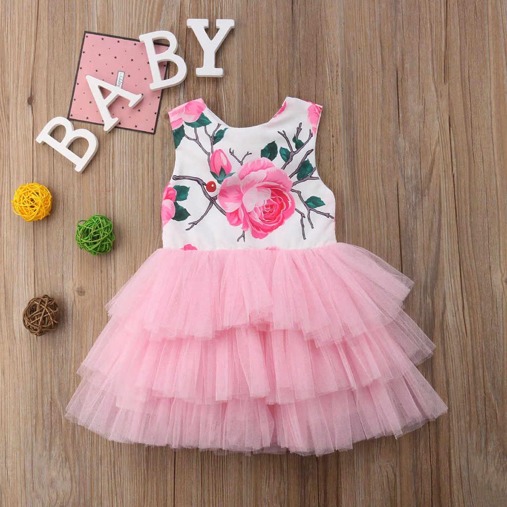 Perimedes/Элегантное летнее платье для маленьких девочек; платье принцессы с цветами для маленьких девочек; праздничное Пышное Платье-пачка из тюля; одежда