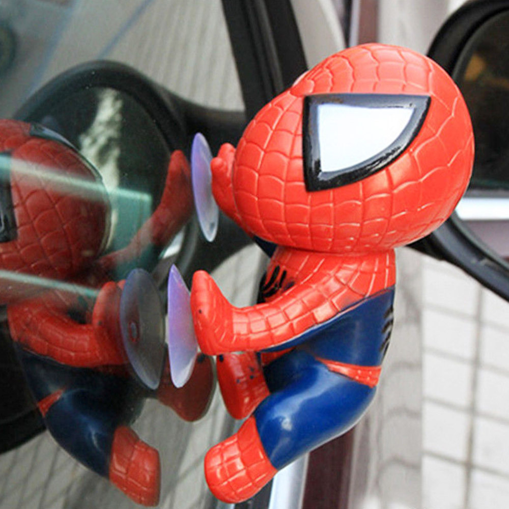 1 St Creative Zuignap Auto Speelgoed Voor Klimmen Spider Man Pop Dashboard Venster Voor Voor Auto Ornament Auto Interieur Accessoires