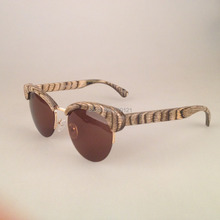 MY DOLI Woman's cat eye 100% wood sunglasses (BV5031)
