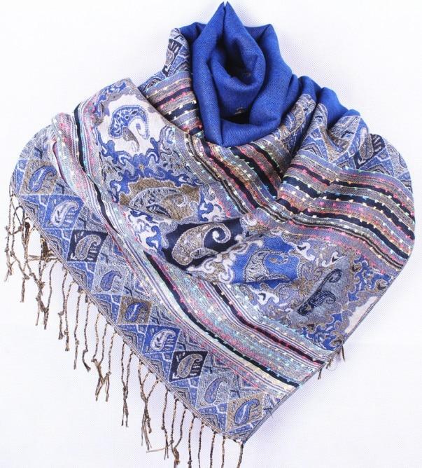 ladies special occasion purple silk pashmina silk head wrap FREE delivery