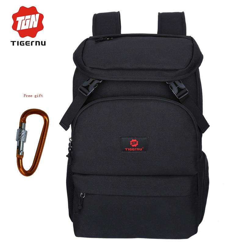 04ba69518ccf ᑐTigernu Мода ноутбука рюкзак 15.6 дюймов Для мужчин школьная сумка ...