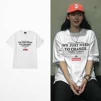 65f8849fcf6f New Japaness Style Harajuku T Shirt Men We Just Need To Change Print Box  Logo Casual