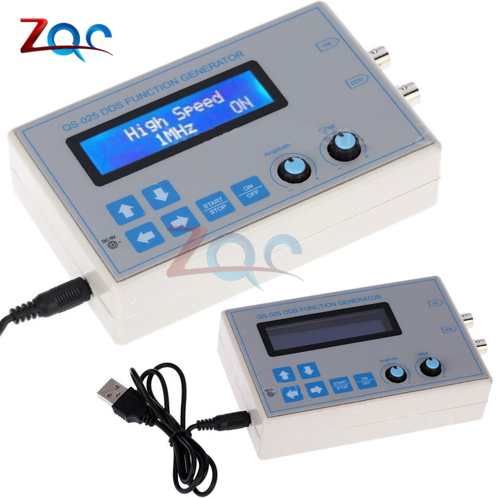 US $20 29 8% OFF|DC 9V 1602 LCD Display Digital DDS Function Signal  Generator Module Sine + Triangle + Square Wave + USB Cable (1HZ 65534HZ)-in  Signal