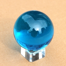 2pcs Aquamarine  Crystal Healing Round Ball Sphere 40mm +Stand Gift Hot Free Shipping Fengshui Ball Elegant Wedding Gift