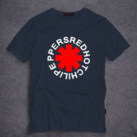 Rock Fashion Red Hot Chili Peppers T Shirt Men Cotton Printing Black Rock Music HIp Hop