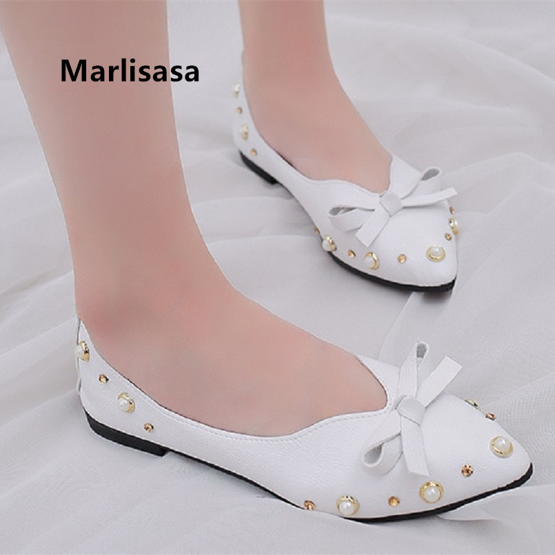 Marlisasa Vrouwen Platte Schoenen Women Classic White Pu Leather Flat Loafers Lady Cute Brown Light Weight Shoes Cool Shoes F297Marlisasa Vrouwen Platte Schoenen Women Classic White Pu Leather Flat Loafers Lady Cute Brown Light Weight Shoes Cool Shoes F297